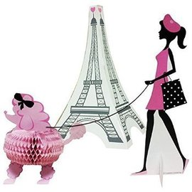 "Centerpiece Kit-Honeycomb-Party in Paris-3pkg-4""-11"""