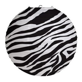 Paper Lantern-Zebra-12''