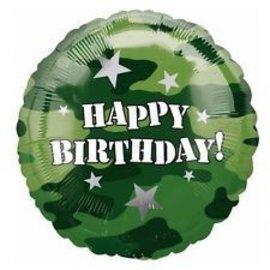 "Foil Balloon-Camouflage Happy Birthday 18"""