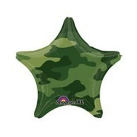 """Foil Balloon-Star Camouflage 18"""""""