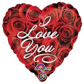 "Foil Balloon-I Love You Heart 18"""