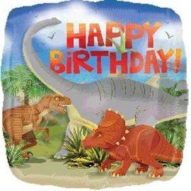 "Foil Balloon-Dinosaur Happy Birthday 17"""