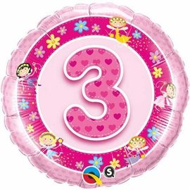 "Foil Balloon-3 Pink Fairy 18"""