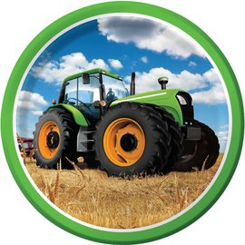 Plates-LN-Tractor Time-8pk-Paper