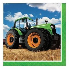 Tractor Time-LN Napkins 16pk