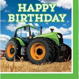 Tractor Time-Happy Birthday LN Napkins 16pk- Final Sale