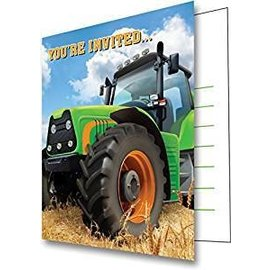Tractor Time- Invitations 8pk