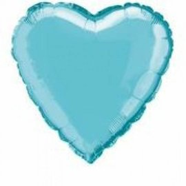 Foil Balloon - Heart -Baby Blue