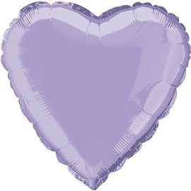 Foil Balloon - Heart - Lavender-18''