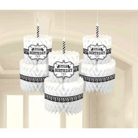 Hanging Decoration-Honeycomb Cakes-13''-3pk