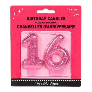 16th Birthday Candle