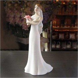 Cake Topper-Caucasian Exasperated Bride-14cm