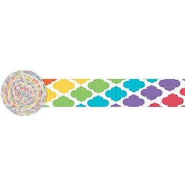 Paper Crepe Streamer-Quatrefoil-Multi color-Paper-8ftX1.75in