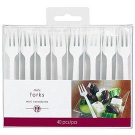 Forks-Mini-White-Plastic-40pk