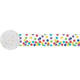 Paper Crepe Streamer-Polka Dot-Multi Color-paper-81Ft