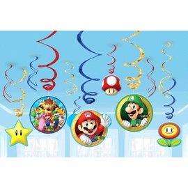 Swirl Decorations-Super Mario-12pk