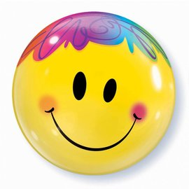Pioneer Bubble Balloon - Smiley Face 1pk