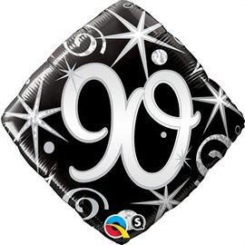 "Foil Balloon - 90th Diamond - 18"""