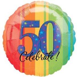 """Foil Balloon - 50th Celebrate - 17"""""""