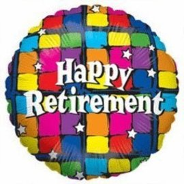 "Foil Balloon - Colorful Happy Retirement - 18"""