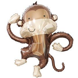 Foil Balloon - Dancing Monkey - 40""