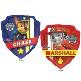 "Foil Balloon - Paw Patrol Chase and Marshall - 25""x27"""