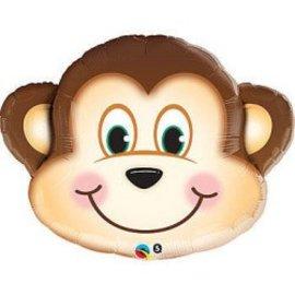 "Foil Balloon - Monkey Head 35"""