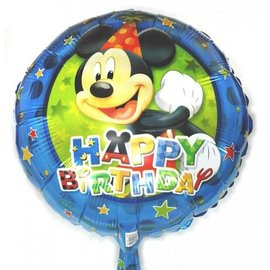 Foil Balloon - Happy Birthday Mickey Mouse 18""
