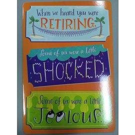 """Jumbo Card-Retirement-1pkg-24""""x17"""""""