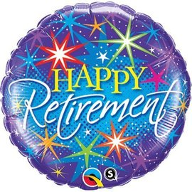 """Foil Balloon - Happy Retirement Colorful Burst - 18"""""""