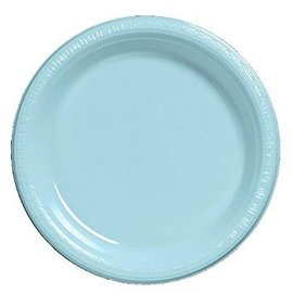 """Plastic Plates-20pcs-Pastel Blue (10.25"""")"""