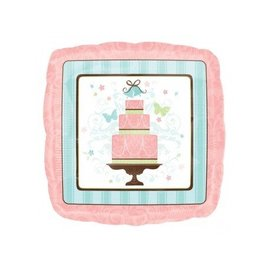 """Foil Balloon - Jr. Shape Square Cake 18"""""""