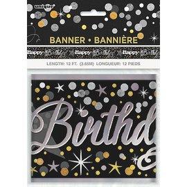 Banner Foil Glittering Birthday - 12FT