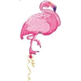 Foil Balloon - Pink Flamingo - Super Shape - 35""