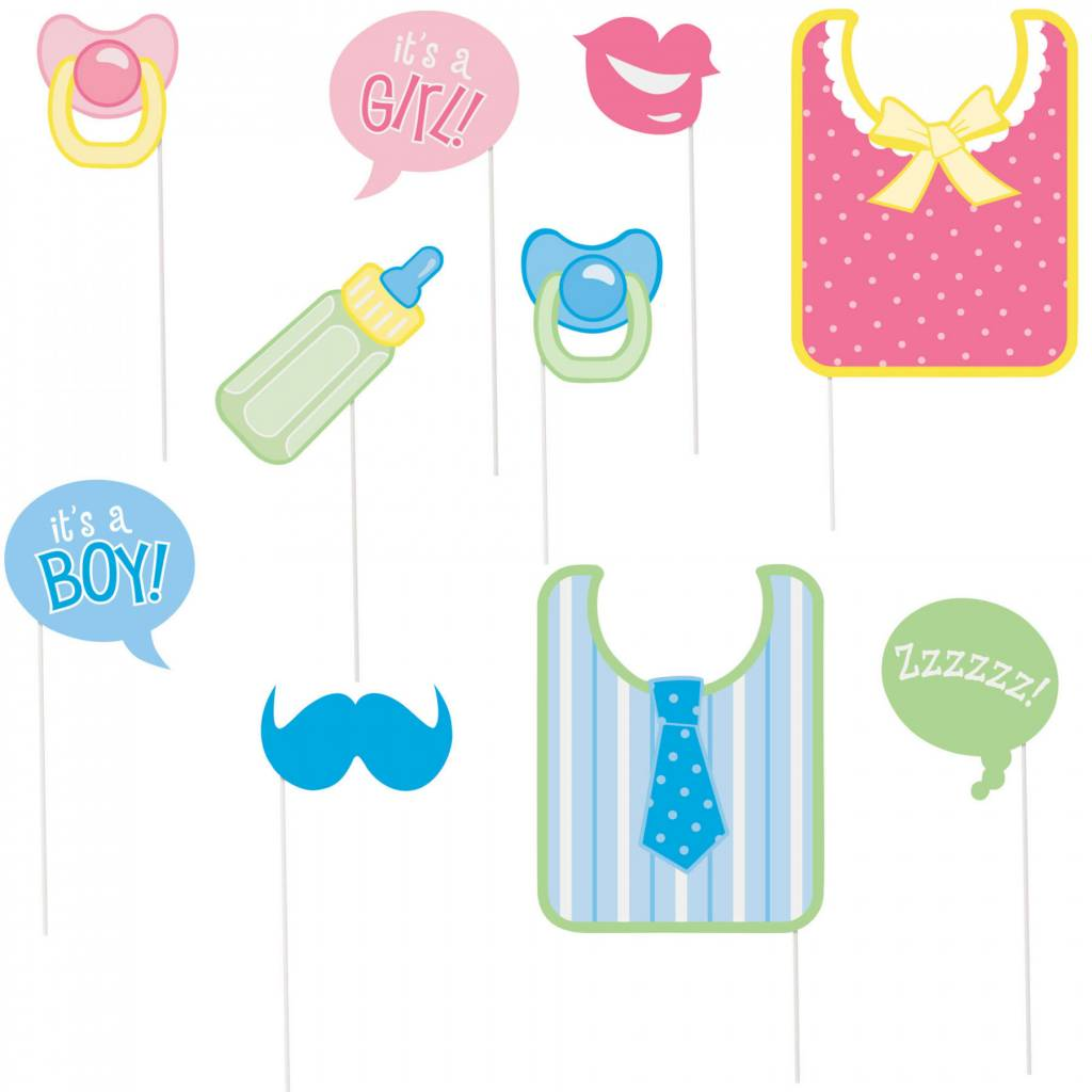 Photo Booth Props   Baby Shower   10pc