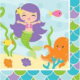 Napkins-LN-Mermaid Friends-16pk-2ply - Discontinued