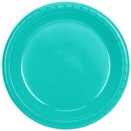 """Plastic Plates 20pcs - Teal Lagoon (10.25"""")"""