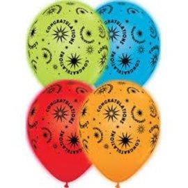"Balloons - Q-Lite Congratulations Latex LED 11"" 4pk"