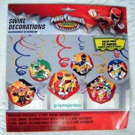 Swirl Decorations Power Rangers