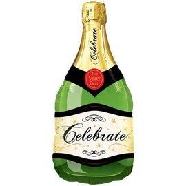 "Foil Balloon - Customizable - Celebrate Champagne Bottle - -39"""