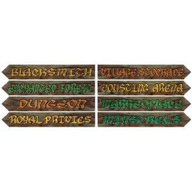 "Cutouts-Medieval Street Signs-4pkg-4""x24"""