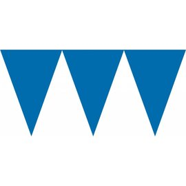 Banner-Paper Pennant-Bright Royal Blue-24pk/7'' x 6''