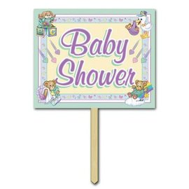 "Yard Sign-Cardstock-Cuddle Time Baby Shower-1pkg-12""x15"""