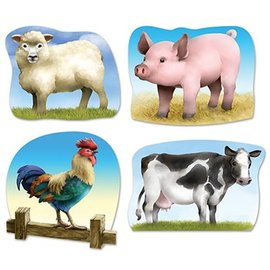 "Cutouts-Farm Animals-4pkg-14""-16"""