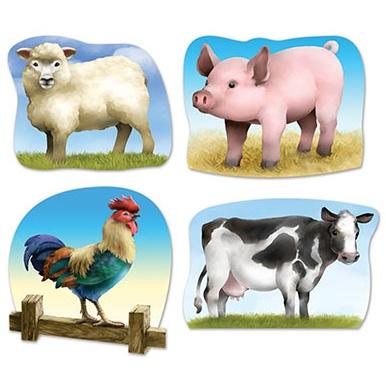 cutouts farm animals 4pkg 14 16 victoria party store