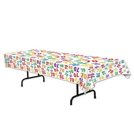 Tablecover-Rectangle-70th Celebration-Plastic - Discontinued