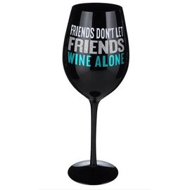 Wine Glass-Friends Don't Let Friends Wine Alone-1pkg-28oz