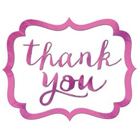 Stickers-Thank You-Bright Pink-50Pk/1.5'' x 1''