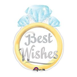 """Foil Balloon - Best Wishes Lifetime of Love - 16""""x21"""""""