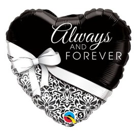 """Foil Balloon - Always and Forever - 18"""""""